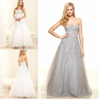 Gorgeous charming  Backless Prom Dresses Sweetheart Sleeveless Floor-Length A-Line custom-made Gown With shiny Crystals