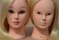 26'' Cosmetology Mannequin Manikin Training Head with Gold Hair For Professional Hairdressing