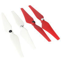 """2 Pair 9"""" Propeller Pros Self-tightening Blades CW CCW Propeller Pros for DJI Phantom Vision 2 Red and white"""