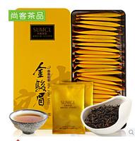 Free shipping  Hot 2014 New Tea Organic Golden Bud 150g jin jun mei Black Tea green food health chinese tea , Congou black tea