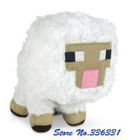 2014 New Hot Retail Minecraft Doll Sheep Plush 17cm The game toys Christmas gift bag sends kids Stuffed Toys Baby Free Shipping