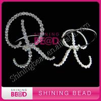 clear rhinestone latter napkin ring for wedding,free shipping,crystal rhinestone latter napkin ring
