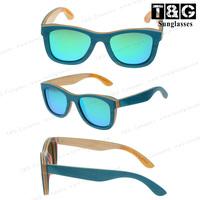 Turquoise Skateboard Wood Sunglasses Man Woman Brand Designer Coating Mirror Sunglass Vintage Retro Oculos De Sol Cazal