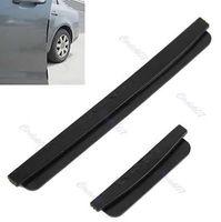 D19 Free Shipping 8pcs Car Door Edge Guards Trim Molding Protection Strip Scratch Protector Black