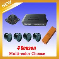 Car Parking sensor 4 sensors+ Buzzer Backup Radar Car Detector System Reverse Sound Alert 6 colors to choose, Free shipping