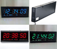 Digital Large Big Jumbo LED Wall Desk Alarm Clock With Calendar Temperature  Fast Delivery !