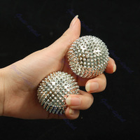 D19Free Shipping 2Pcs Hand Palm Massage Needle Massaging Stimulation Balls