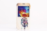 Windbell Pattern PU Leather Full Body Case for Samsung Galaxy S5 I9600
