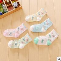 free shipping 2014 spring autumn new 20pair/lot cotton baby girls socks bow knot kids short socks children's socks
