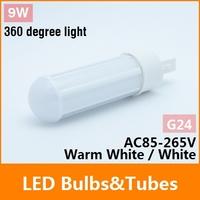 9W G24 LED Bulb 85-265V SMD 2835 LED Corn lamp 1000lm Warm White 360Degree High brightness Energy Saving Led Light Free Shipping