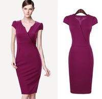 Plus Size S-XXL Free Shipping 2014 New Fashion Summer Women's Elegant Evening Formal Gown Celebrity Bandage Dress Bodycon Dress
