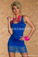 free shippingDirect manufacturers of new European and American club costume sexy sleeveless lace sexy lingerie 336