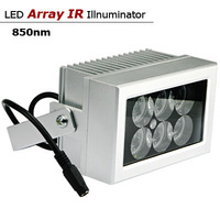 High-quality Silver 15degrees Array IR Illuminator120M infrared lamp 12W 6pcs  Led IR Light Outdoor Waterproof for CCTV Camera
