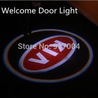 KIA LOGO Car LED Emblem Car Welcome Light Door Step Ground Projecting Lamp For Forte Soul Rio Sorento Borrego etc