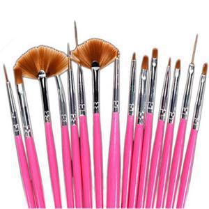 2014 New Brand Cheap Elegant Nail Tools/15Pcs Nail Art Painting Drawing Pens/Portable Nail Dotting Pen(China (Mainland))