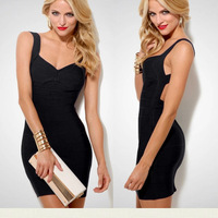 2014 New Desigual Sheath Bandage bodycon Dresses Sexy Spaghetti Strap Dresses halter backless Patry Package Hip M L XL lyq128