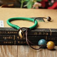 National trend accessories handmade knitted bracelet belt bell ceramic