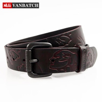 2014 Vintage real genuine leather belts for men cowskin strap embossed personalized casual cowhide waist belt free shipping!