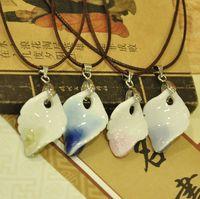 Fashion ceramic jewelry crystal crack necklace chromophous unique accessories