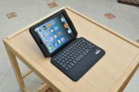 Free shipping high quality  Bluetooth keyboard with leather cover stand  case   for ipad mini   1&2, dead line price