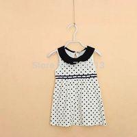 Free Shipping 2014 summer new children's clothing wholesale Girl Dot sleeveless dress girls summer Top