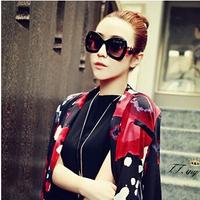 2014 NEW STYLE !Personality beautiful black bowknot women sexy sunglass fashion vintage sun glass 6 color choice