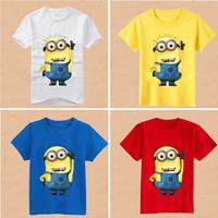Kids Boys Boy Children T-shirts Tee Tops Blusas Blouses Despicable Me Cartoon Clothing Clothes Summer Cotton O-Neck Short Sleeve
