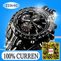 CURREN 2014  business watch Men's fashion Tungsten steel watches Quartz movement imports Waterproof high-grade fashion wacth