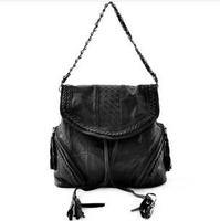 Women Leather Bag Patchwork Bag Weave Genuine Leather Handbags Fashion Ladies Handbags Shoulder messenger bag Free Shipping 6095