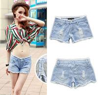 Hot sale summer Denim Shorts Fashion Women Jeans Shorts Denim Pants Low -Waist Short Girls leggings hollow out Plus Size nz185