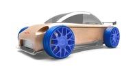 Automoblox s9-R sport sedan Wood Toy New Box mt19
