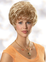 2014 New Female Short Blonde Women's Girl Wig High Quality Heat Resistant Synthetic Wig/ AJ-1005