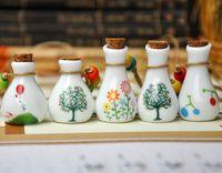 Ceramic jewelry pastels, bottle necklace perfume small bottle tampion belt