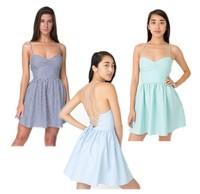 2014 New Sexy Women Spaghetti Strap High Waist Backless Open Bandage High Waist Mini Skater A-Line Sun Dress Vestidos Wholesale