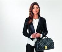 New fashion high quality handbags Kardashian kk plaid rivet shoulder bag handbag messenger bag women's handbag work bags SKY998