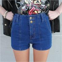 Spring 2014 high waist denim shorts female elastic slim shorts nc306-638 women's jeans