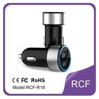 Free shipping new arrival 3.4A usb mobile car charger with CE FCC ROHS Certification