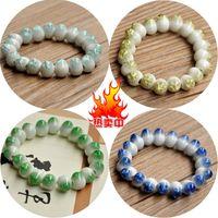 unique crack drop bead bracelet 10mm bead jewelry
