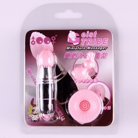Best price  female mini av vibrator pocket bullet with three silicone head