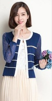Hot Sale Lady's  Lace Cardigan Small Coat with Long Sleeve