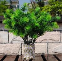 New European Wedding Home Hotel Table Decorative Flowers Artificial Pine bluegrass Grass Plant 10pcs