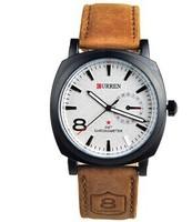 2014 New Fashion CURREN Quartz Business Men's Watch,Men's Military Genuine Leather Watch