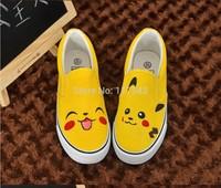 Pokemon Pikachu Custom Slip-on Shoes for Boys Girls Anime Shoes
