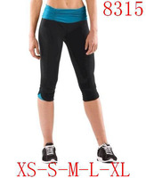 Wholesale Lulu Yoga Women Fashion Wunder Under Pants Sports Tights Fitness Groove Crops Capris Leggings 20 Styles Size 4-12