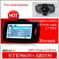 NTK96650 DK550 Full HD DVR Support G-Sensor + 1920*1080@30fps + AR0330 Sensor + Night Vision + 170 Degree Angle Lens
