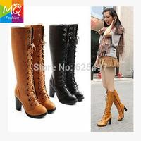 Free shipping knee boots high heel shoes autumn winter fashion sexy warm long women boot women motorcycle boots WS3042