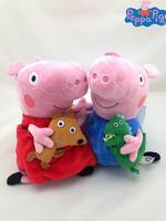 Brinquedos Meninas Peppa Pig Toys 2 Pcs ( 32cm Peppa  And 28cm George ) Stuffer Plush Doll Baby Pepa pelucia Toy