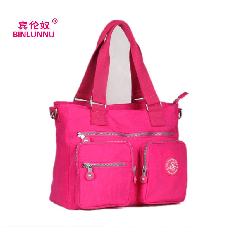 2014 New Korean Fashion Canvas Women Shoulder Bag Rose Colour Handbags Big Capacity Messenger Tote Shopper outdoor Travel Bags(China (Mainland))