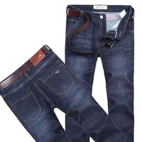 2014 new men's designer jeans armen men's straight pants fashion denim trousers mid rise size 28-42