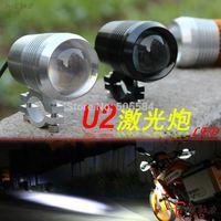 Black/Silver Shell 12v-60v CREE 30W 1200LM Motorcycle fog light Motor/Moto daytime flash light Strobe headlights Spotlights